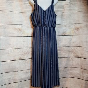 Sienna sky navy, white striped sleeveles jumpsuit
